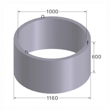 бетонное кольцо кс10.6