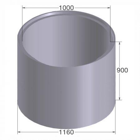 бетонное кольцо кс10.9 с пазом