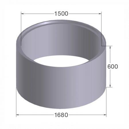 бетонное кольцо кс15.6 с пазом