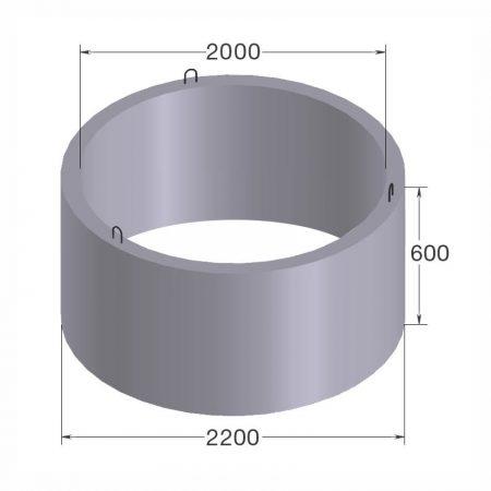 бетонное кольцо кс20.6