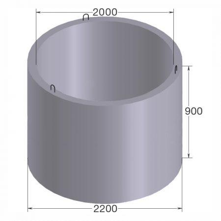 бетонное кольцо кс20.9
